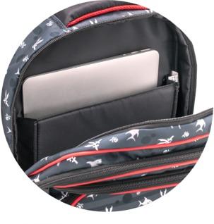 Padded laptop holder