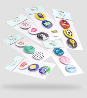 Flair buttons collection
