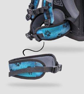 Removable hip belt